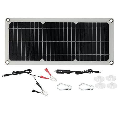 Cargador de batería de Panel Solar, Silicio monocristalino + Panel Solar ABS Salida USB Ligero portátil para el hogar para Barcos para automóviles
