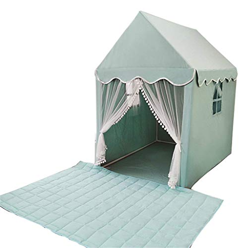 Llpeng Bedroom Children's Nap Tent, Girls & Boys Independent Space Large Space/125 * 93 * 140CM/with Mat/for 0-12 Years Play Tents (Color : A, Size : 125 * 93 * 140CM)
