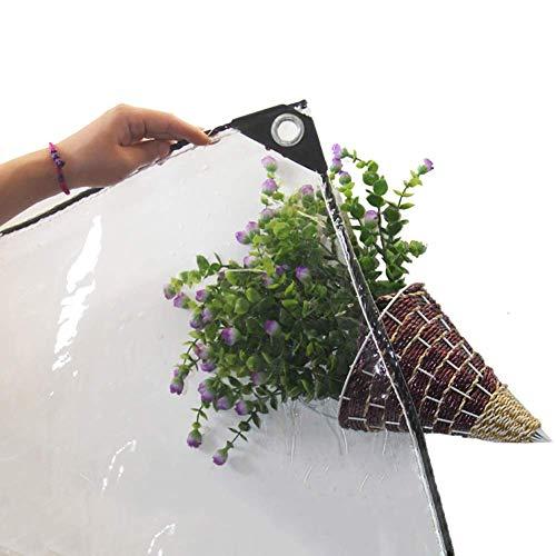 Plane PVC Transparente wasserdichte Plane mit Durchführungstülle Hochleistungs- und alterungsbeständige extra dicke durchsichtige Plane wärmeisolierte Dachabdeckung 440 g/m² (Größe: 16 × 31 m)