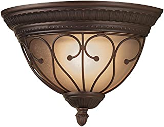 Portfolio Charton Place 13.19-in W 1-Light Oil-Rubbed Bronze Pocket Wall Sconce