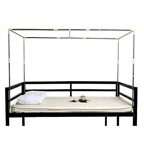 Moskitonetzhalter Vier eckbett Moskitonetz Betthimmel Gestell, Einziehbare Quadratische Feinmaschiges Mückennetz Edelstahlhalterung Unterstützung Stange für Doppelbett und Einzel Bett (A)