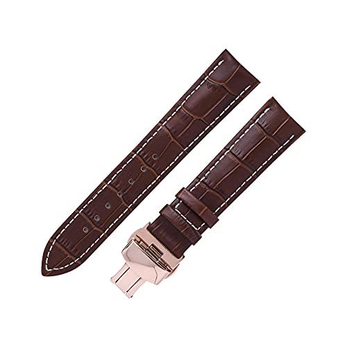 Reloj de bolsillo Reloj de banda de cuero de cuero de correa compatible con Tissot DW Longines Seiko, 14/16/18/19 /...