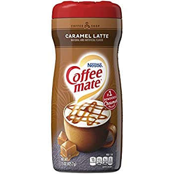 COFFEE MATE Caramel Latte Powder Coffee Creamer 15 Oz Canister | Pack of 6 | Non-dairy Lactose Free Creamer