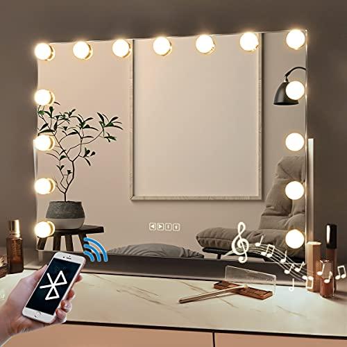 Bobening Hollywood Vanity Mirror with Bluetooth 360 Degree Rotation...