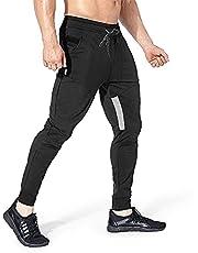 Yageshark Męskie spodnie do joggingu, spodnie sportowe, bawełna, fitness, slim fit, spodnie rekreacyjne, spodnie treningowe, do joggingu