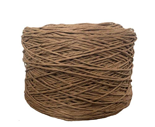 ViaForest 450 metros x 2 mm papel cuerda cuerda natural paquete cuerda cuerda cuerda natural cuerda de embalaje cuerda artesanal jardín boda flores arreglado decoración DIY marrón