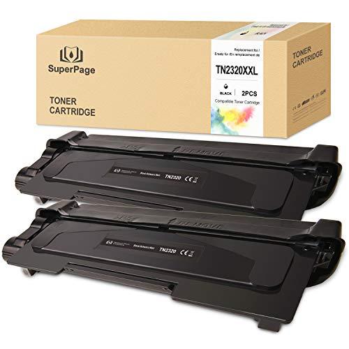 2 Superpage TN2320 TN2320XLToner Kompatible für Brother TN-2320XXL für Brother Brother MFC-L2700DW HL-L2340DW DCP-L2520DW MFC-L2720DW HL-L2300D DCP-L2560DW DCP-L2500D HL-L2365DW HL-L2360DN,2schwarz