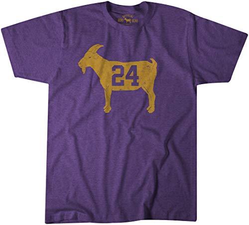 Official Goat Gear - Goat 24 - Vintage Kobe T-Shirt (Large) Purple Heather