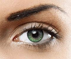 PHANTASY Eyes® HOLLYWOOD Lentillas de color natural (VERDE) 1 par (2 PIEZAS) - sin dioptrías + INCLUYE ESTUCHE GRATIS