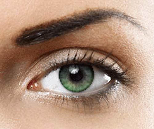 PHANTASY Eyes® HOLLYWOOD Lentillas de color natural (VERDE) 1 par (2 PIEZAS) - sin dioptrías + INCLUYE ESTUCHE GRATIS