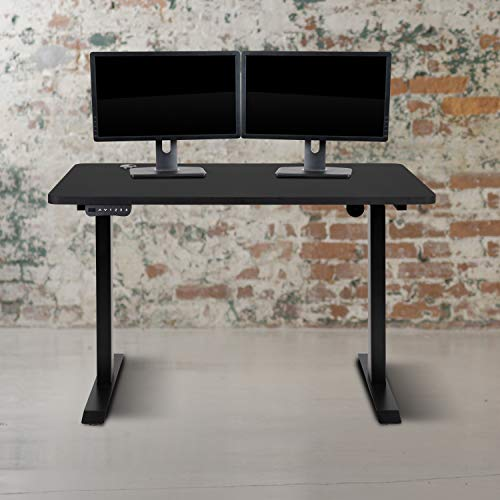 Flash Furniture Electric Height Adjustable Standing Desk - Table Top 48' Wide - 24' Deep (Black)