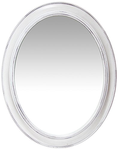 Infinity Instruments Sonore Oval White Wall Mirror | Decorative 30 inch Mirror -
