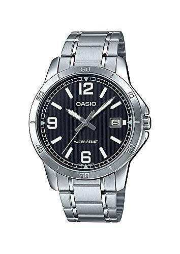 Casio MTP-V004D-1B2UDF Analog Quartz Silver Stainless Steel Men's Watch