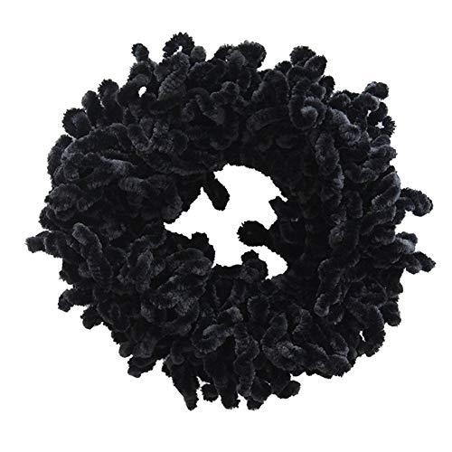 Volumizing Scrunchie Big Haargummi Ring Hijab Volumizer Khaleeji Headwear für Frauen Schwarz Make Up Werkzeug