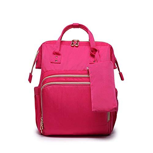 GJQ Baby-Windel-Wickeltasche, große Kapazitäts-Multi-Funktions-Spielraum-Rucksack, Wasser Hoch-Windel-Tasche Rucksack-Spielraum-Rucksack mit Wicke Beweglich, stilvoll und haltbar,Rot