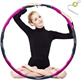 Kuyou Hula Hoop, Folding Fitness Wave Weighted 1 kg (2.2lbs) Adujustable Width 48-88cm (26.8-34.6in) for Youth...