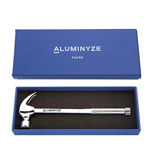 Aluminyze 6 IN 1 Hammer and Screwdriver Tool Set - Made from Carbon Steel - Beautiful Gift Box Included - Makes a Great Gift for Everyone!