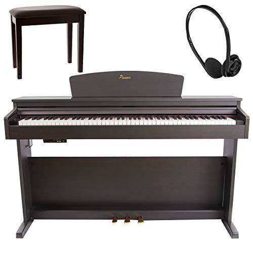 Pianova P-191 RW Digitales Klavierset mit 88 Tasten mit Hammer + Hocker + Kopfhörer