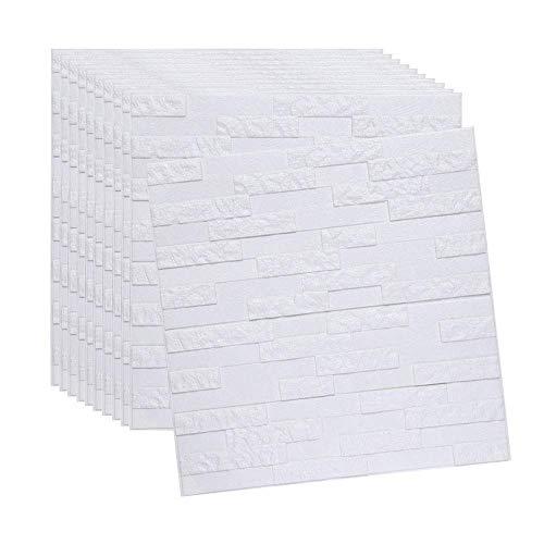 FTFTO Haushaltsgeräte White Brick 3D Wandpaneele Peel und Tapete für Wohnzimmer Schlafzimmer Hintergrund Wanddekoration 60x60cm (grünes Gras 15PCS)