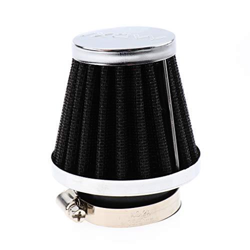 KESOTO Pilzkopf Luftfilter für Motorrad Quad Roller Waschbar Filter Sportluftfilter für -Reiniger Schwarz - 46mm