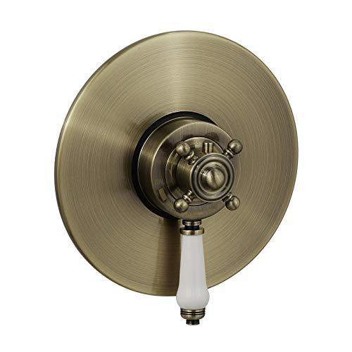ENKI Duscharmatur Thermostat Aufputz verborgen Vintage Design Bronze CLAREMONT