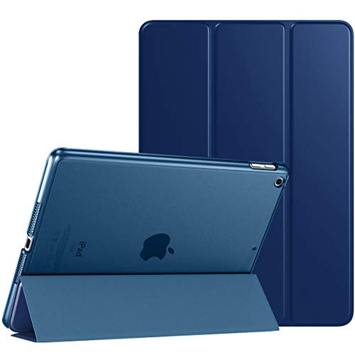 TiMOVO Case for New iPad 8th Generation 2020 / iPad 7th Generation 10.2' 2019, Slim Translucent Frosted Back Protective Smart Cover Case with Auto Wake/Sleep for iPad 10.2-inch - Navy Blue