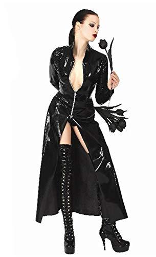 Life Girl PVC Mantel Die Matrix Langer Trenchcoat Neutral Nachtfeld Sänger DS Kostüme Catsuit, XXL