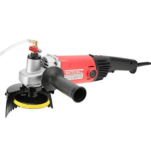 220V 1400W Amoladora Electrica,Molinillo de Agua Pulidora de Mano de Piedra Amoladora de Velocidad Variable Herramientas para Pulir Esmerilar para Mármol,Baldosas de Cemento,Granito(EU)