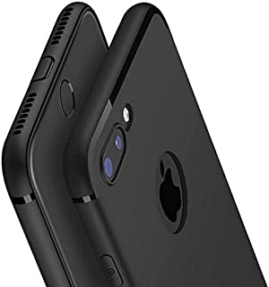 Amozo® Soft Silicone with Anti Dust Plugs Shockproof Slim Back Cover Case for Apple iPhone 7 Plus - Black