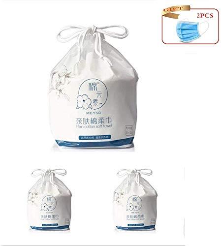 3 Rolls Disposable Cleaning Cotton Face handdoek, gezichtsreiniging geweven katoen natte en droge wassen handdoek, Multipurpose Wegwerp make-up verwijdert gezicht handdoek en een cadeau geven jilisay