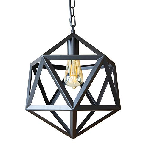 AIDOS Industrial Metal Pendant Light, Adjustable Chain...