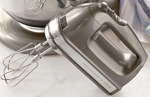 Kitchenaid Digital hand mixer 9 Speed RR-khm9ms Medallion Silver (Renewed)