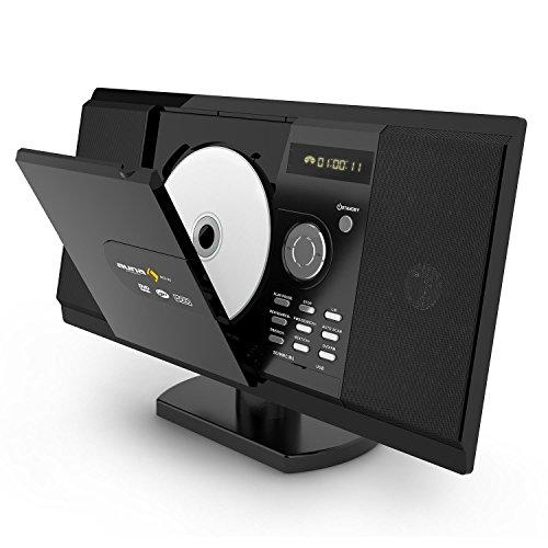 AUNA MCD-82 - Stereo , Impianto Stereo , Slot USB/SD Multimediali , Sintonizzatore Radio FM , Compatibile con DVD , Potenza Max 400W , Schermo LCD , Telecomando , Antenna Integrata , Colore Nero