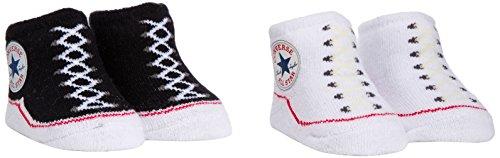 Converse Unisex - Baby Bekleidungsset 2 PK Bootie, Gr. 0-6 Monate, Weiß (Converse Black/Converse White)