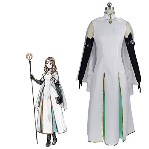 QILONG Octopath Traveler OPHILIA Cosplay Costume (Male S) White