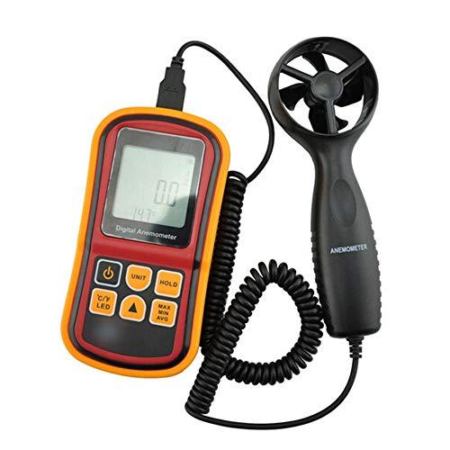 LINDANIG Digital-Windmesser Windgeschwindigkeit Lufttemperatur-Test Windmesser (Farbe
