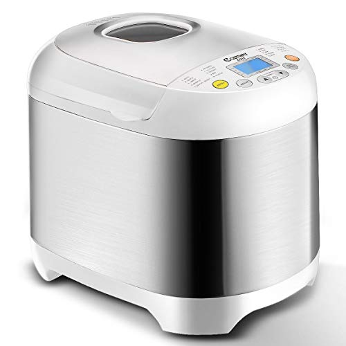 Fantastic Deal! Automatic Bread Machine with 19 Programs, BestComfort 2L Programmable Bread Maker, 15 Hours Delay Timer, 1 Hour Keep Warm (style 2) (12″x14″x9.5″)