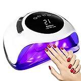 Phiraggit Lampada per unghie LED UV 120W, lampada per smalto gel più veloce per asciugare le unghie con 36 perle luminose e 4 impostazioni del timer, lampada portatile per la cura delle unghie