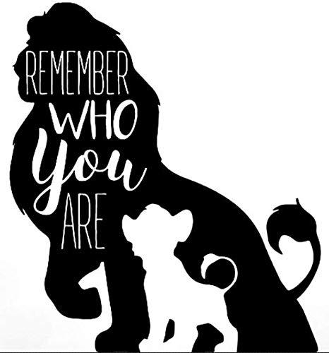 Promenade Graphics Lion King Simba Shadow Vinyl Decal Sticker | Cars | Walls | Laptops | Black | 5.2' X 5.6'