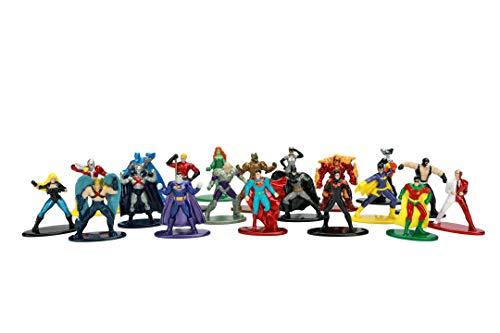 Jada Toys DC Comics 20er Set Nanofigs, Wave 2, Nano Sammelfiguren, 4 cm, 20 Stück/Set