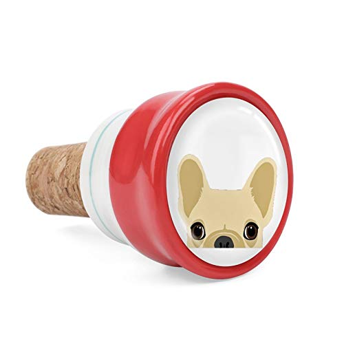 Boston Terrier And French Bulldog Wine Cork Wine Bottle Stoppers Ceramic Plug for Wine Lover Gifts, Bar, Kitchen, Holiday Party, Wedding - Keep Wine Fresh