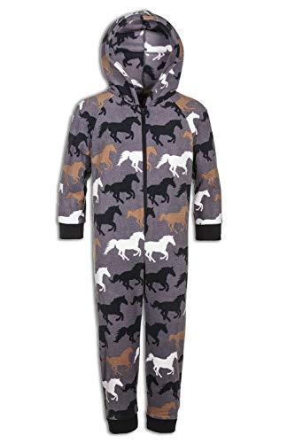 CAMILLE Strampler-Pyjama-Sets für Kinder mit Mehreren Aufdrucken 6-8 Years Grey Horse