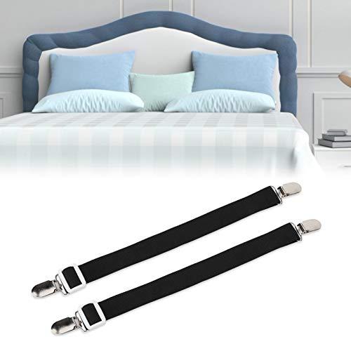 Emoshayoga Soporte de colchón Ajustable de Nailon y Acero Inoxidable Buena extensión para sábanas de Larga duración(Black)