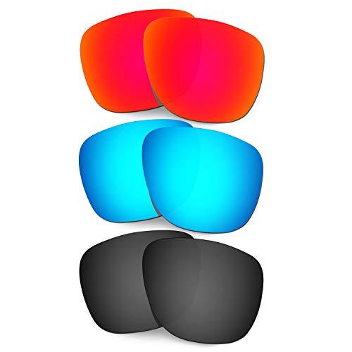 HKUCO Reforzarse Lentes de Repuesto para Oakley Crossrange XL OO9360 Rojo/Azul/Negro Gafas de Sol
