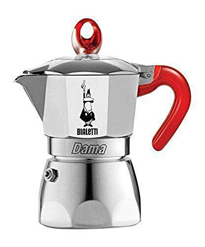 BIALETTI CAFFETTIERA 1 TAZZA DAMA VANITY ROSSA EXPRESSO ALLUMINIO ITALY