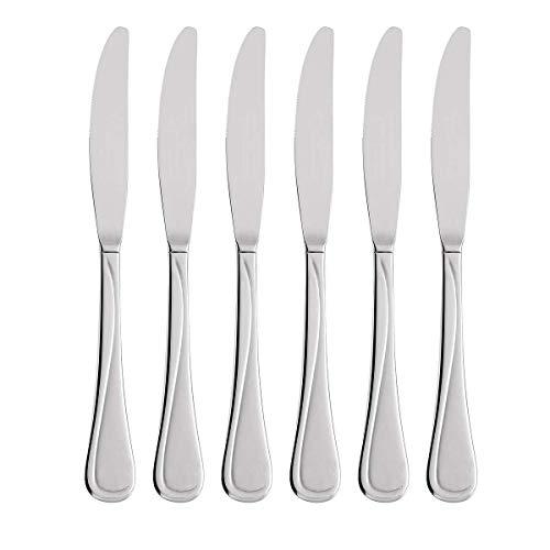 Oneida Flight Stainless Steel 18/10 Dinner Knives (Dinner Knives, Set of 6)