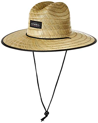 O'NEILL Men's Print Straw Lifeguard Hat, Asphalt/Sonoma, ONE
