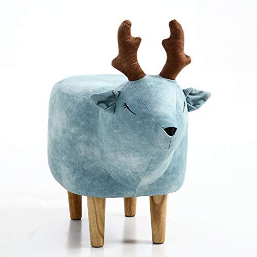 WRZ Modern Minimalist Home Blue Deer Slaapkamermeubels, schoenen, kruk dier
