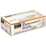 TRUSCO(トラスコ) 天然ゴム 使い捨て 極薄 手袋 L ホワイト 白 粉なし 0.08 100枚 TGL493L L