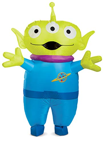 Disguise Unisex Alien Inflatable Adult Costume, Green, One Size